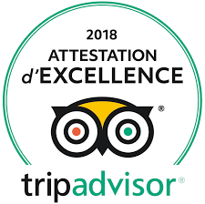 Attestation d'excellence TripAdvisor 2019